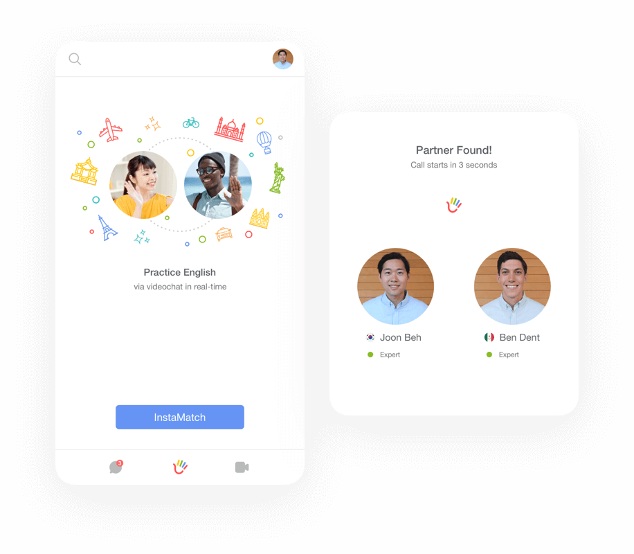 Home - Hallo | Find English partners and practice speaking